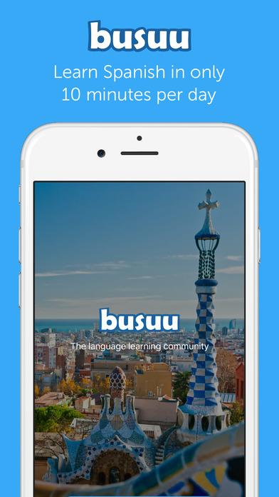 Learn Spanish with busuu.com! iPhone Screenshot 1
