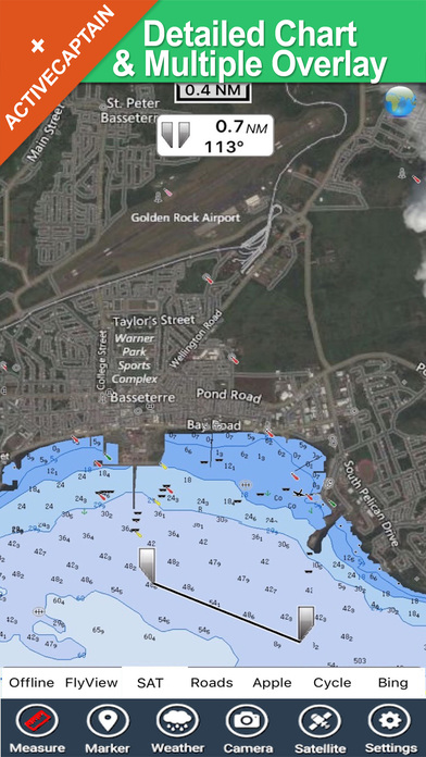 Grenadines & Grenada HD - Travel Map Navigator iPhone Screenshot 1