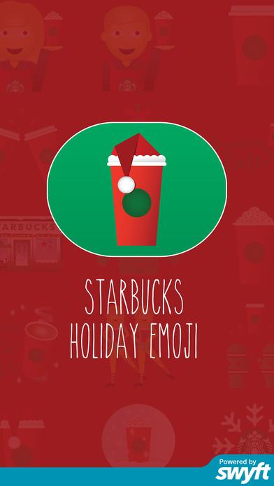 Starbucks Holiday Emoji Apps free for iPhone/iPad screenshot