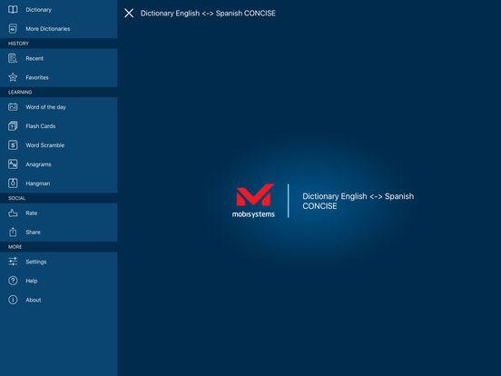 PONS Compact Dictionary Spanish <-> English iPad Screenshot 1