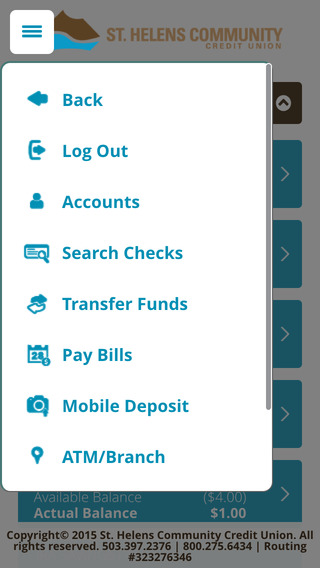 St. Helens Community Federal Credit Union iPhone Screenshot 3
