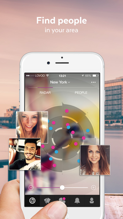 LOVOO - Flirt, date, meet new people! Meet Singles in the flirt radar of your city! iPhone Screenshot 1