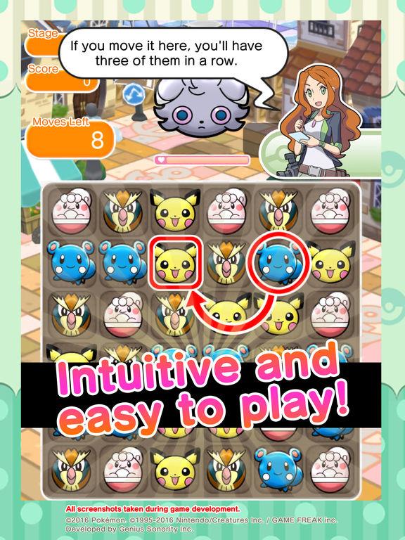 Screenshots of Pokémon Shuffle Mobile for iPad