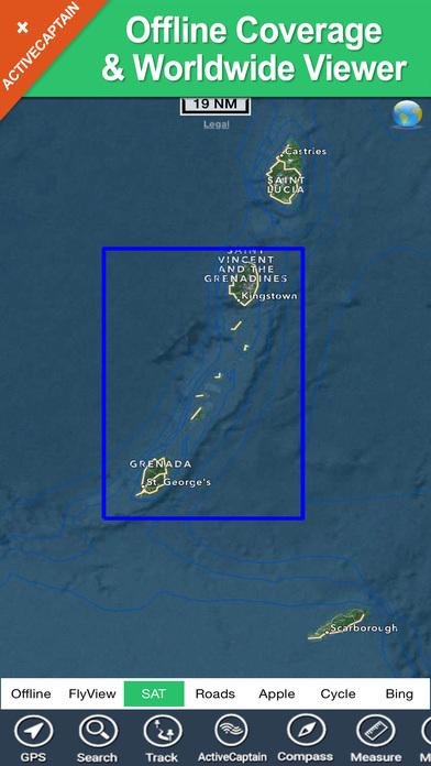 Grenadines & Grenada HD - Travel Map Navigator iPhone Screenshot 5