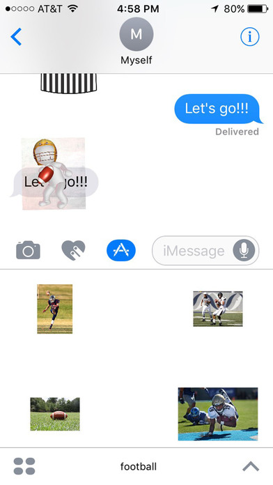 Football Stickers for iMessage Chat screenshot 4