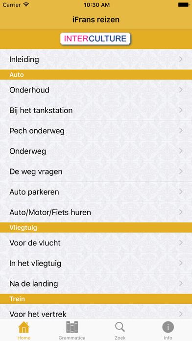 iFrans reizen taaltrainer iPhone Screenshot 1