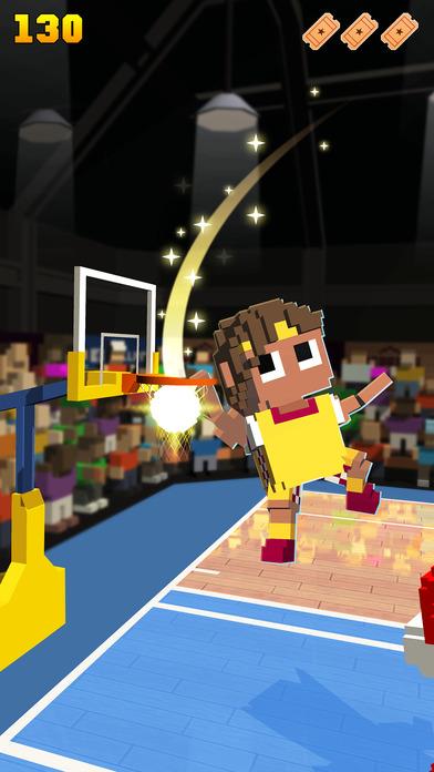 Blocky Basketball - Endless Arcade Dunker Screenshot