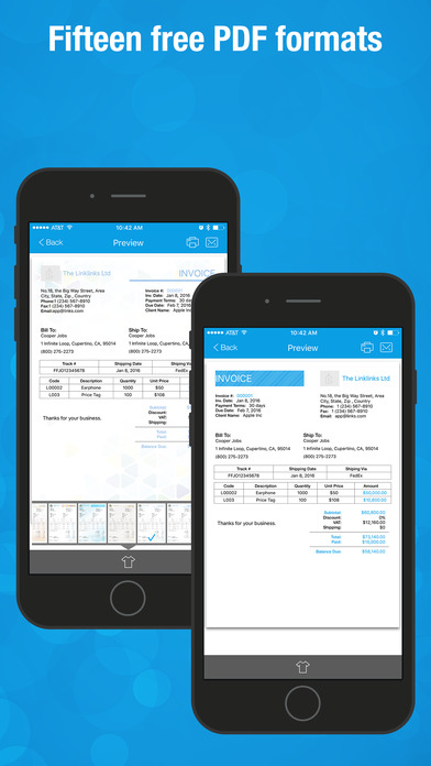 Invoice Wiz Pro - Quick Invoices Maker and Manager, Time Tracking & Billing Screenshots