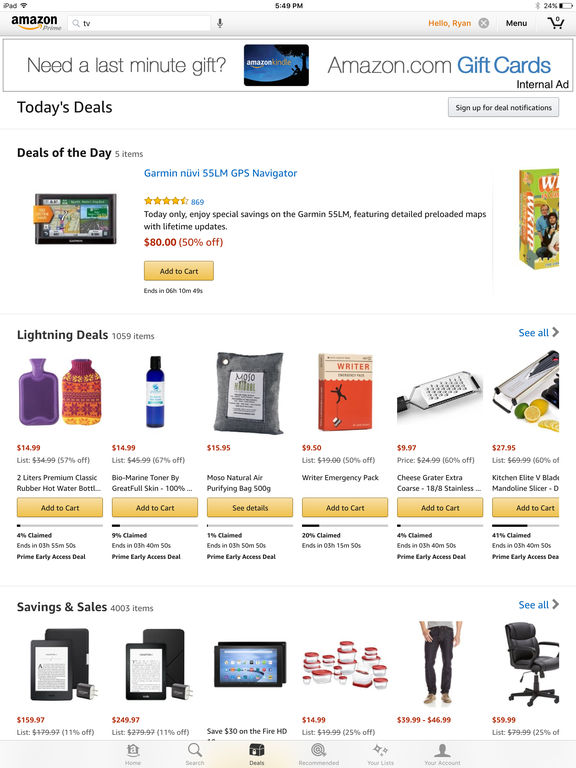 Screenshot #2 for Amazon App: shop, scan, compare, and read reviews