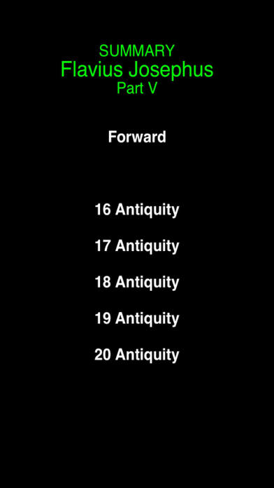 Summary Flavius Josephus (part 5) iPhone Screenshot 2