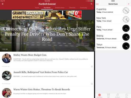 Courant.com Connecticut News iPad Screenshot 1