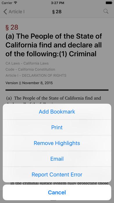California Law (All 29 Codes) iPhone Screenshot 3