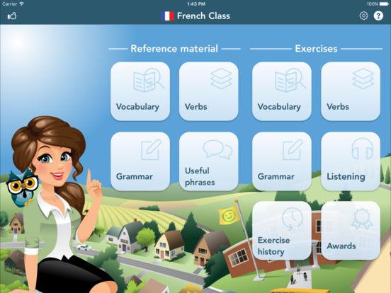 French Class iPad Screenshot 1