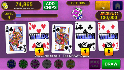 Screenshot 1 Video Poker Jackpot! — The original and best.