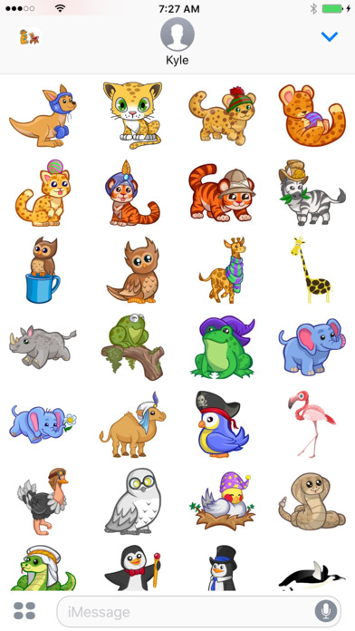 Zoo Cuties: 귀여운 동물 스티커 for iMessage 앱스토어 스크린샷