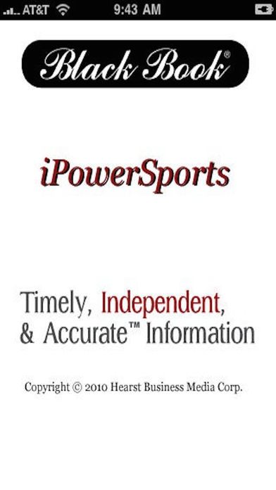 Black Book iPowerSports iPhone Screenshot 1