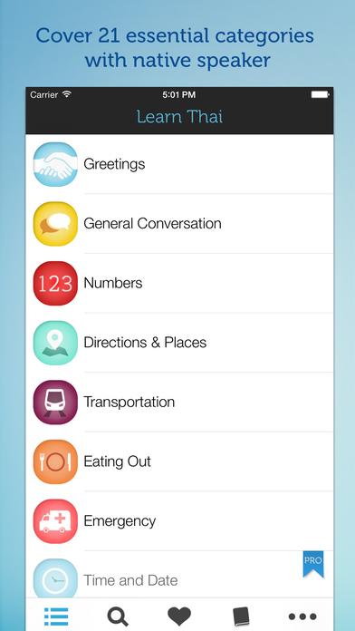 Learn Thai - Phrase Book iPhone Screenshot 2