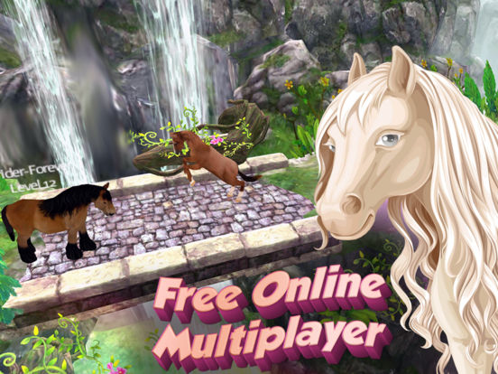 Screenshots of Horse Quest Online 3D Simulator - My Multiplayer Pony Adventure for iPad