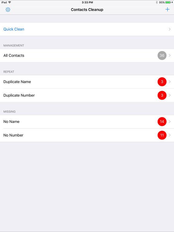 Simpler Contacts Pro-Smart merge duplicate contact Screenshots