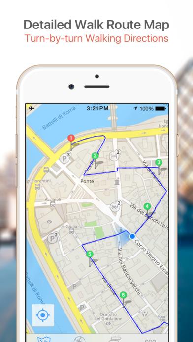 Split Map and Walking Tours iPhone Screenshot 4