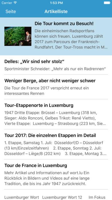 Luxemburger Wort iPhone Screenshot 4