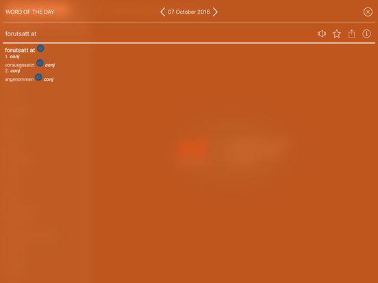 Audio Collins Mini Gem German-Norwegian & Norwegian-German Dictionary iPad Screenshot 4