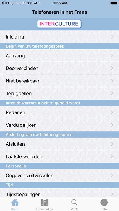 iFrans telefoneren taaltrainer iPhone Screenshot 1