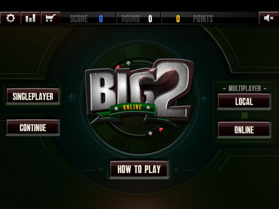 Multiplayer Big 2 iPad Screenshot 3
