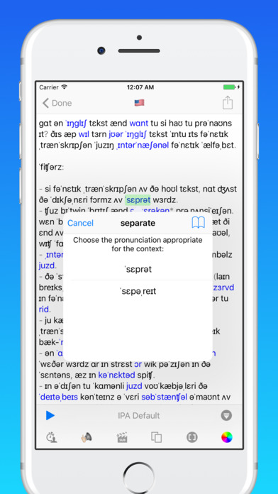 toPhonetics English Phonetic Transcription Screenshots