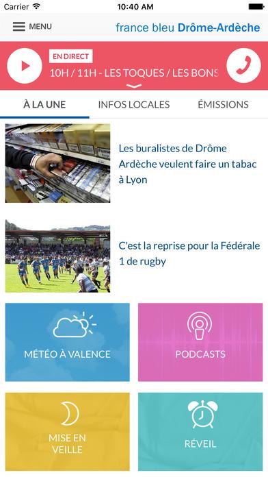FRANCE BLEU iPhone Screenshot 2