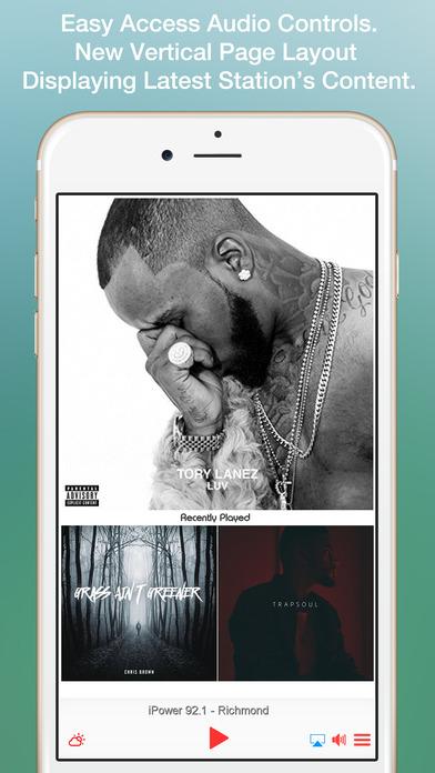 iPower 92.1 - Richmond iPhone Screenshot 1