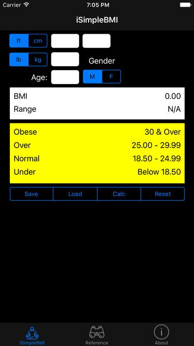 iSimpleBMI iPhone Screenshot 1