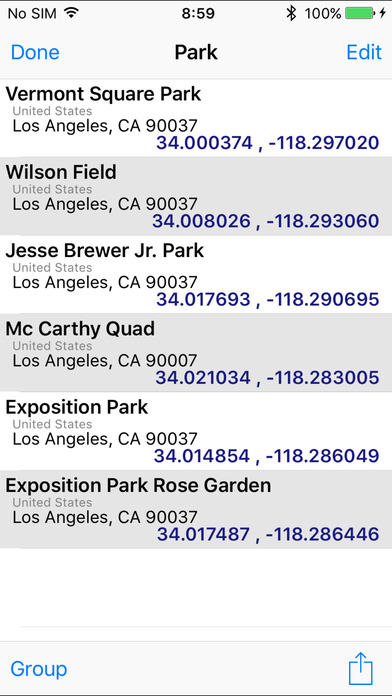 GeoPointer -Obtain position info from the address screenshot 2