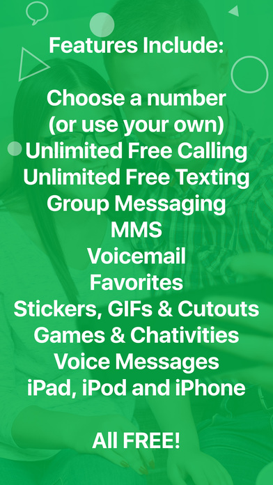 Screenshots of textPlus Free Text + Calls : Free Texting + Free Phone Calling + Free International Messenger for iPhone