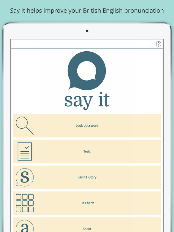 Say It: Pronunciation from Oxford Screenshots