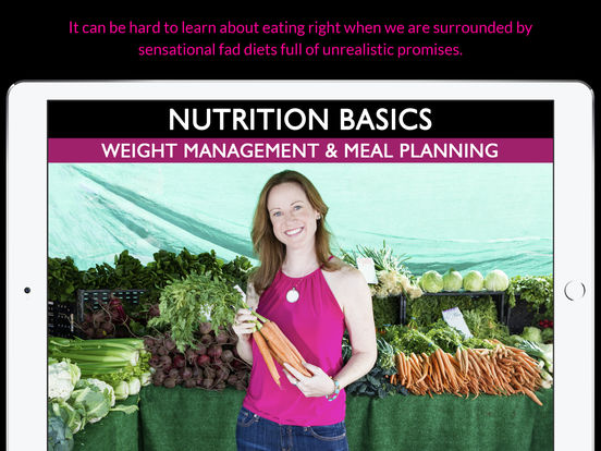 Nutrition Basics: Weight Management & Meal Planning screenshot