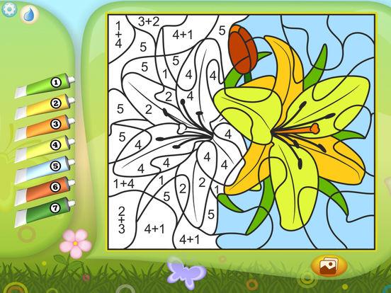 Раскрась по номерам - Цветы - Бесплатно для iPad