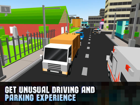 Pixel City Garbage Truck Driver 3D Full Screenshots