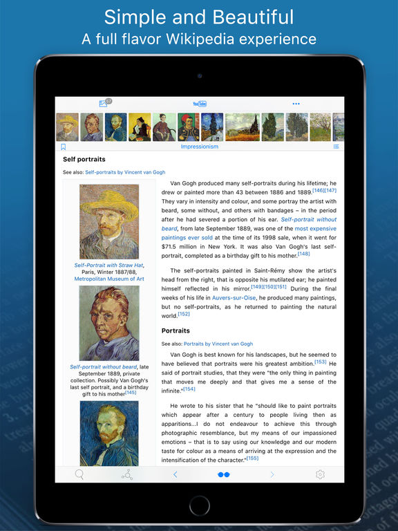 WikiLinks — Smart Wikipedia Reader Screenshots