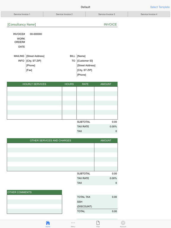 Client Invoice Screenshots