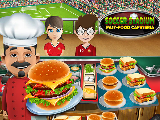 Soccer Stadium Fast-Food Cafeteria : Play best Master-Chef Ham-burger & Pizza Cooking Restaurantscreeshot 1