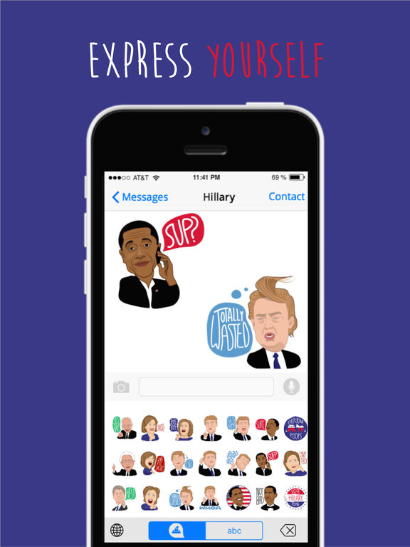 Election 2016 Emojis Screenshots