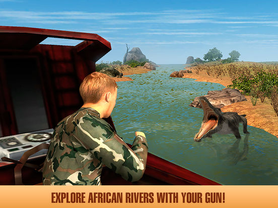 African Safari: Boat Hunting 3D Full screenshot 5