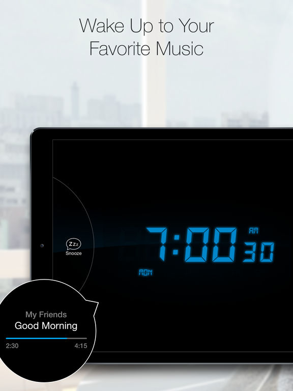 Screenshot #1 for Alarm Clock for Me - Best Wake Up Music & Clock