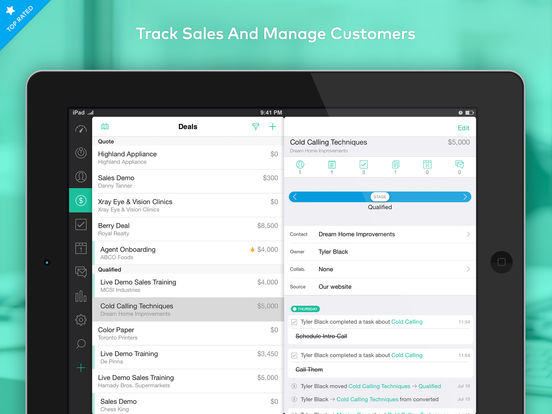 Base CRM and Sales Tracking screenshot