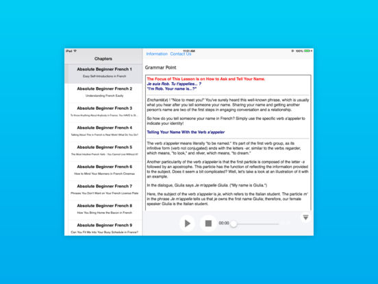 Advanced Italian for iPad iPad Screenshot 2