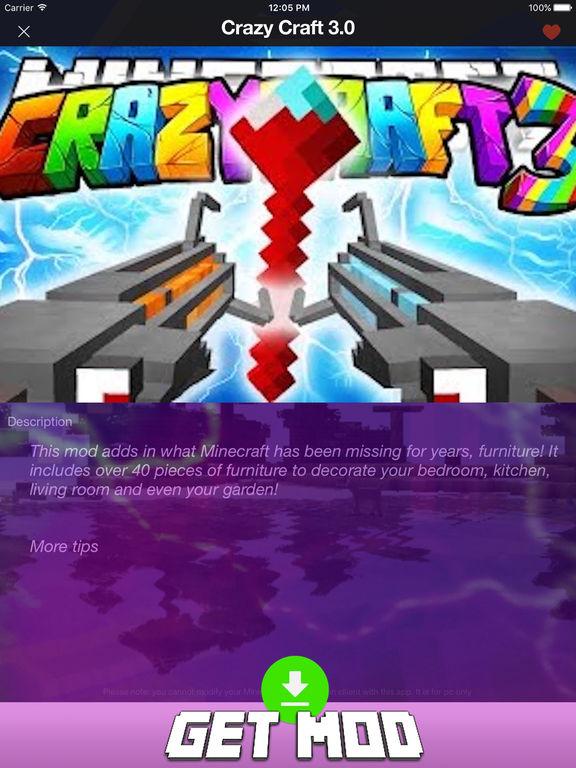 mcpe mod pack crazy craft