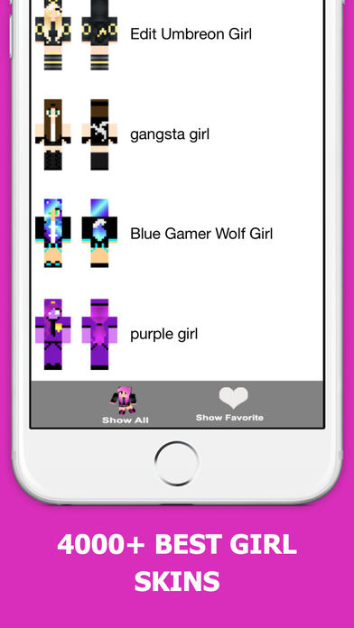 Screenshots of Best Girl Skins for Minecraft PE Free for iPhone