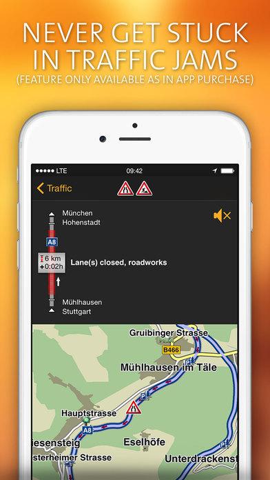 NAVIGON MobileNavigator Australia iPhone Screenshot 4