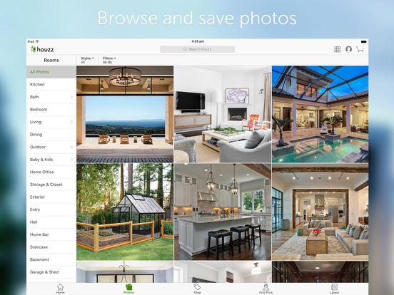 Screenshots of Houzz Interior Design Ideas for iPad